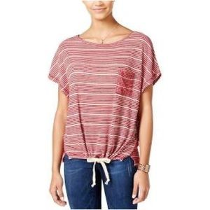 One Hart Womens Sheer Open Stitch Casual Top,